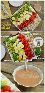 Layered Cobb Salad with Homemade Vinaigrette Dressing!