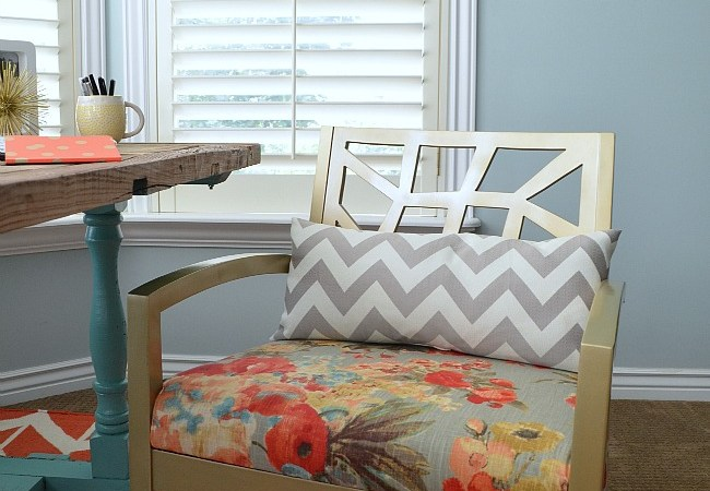 How to Upholster a Chair Seat and Our Master Bedroom Nook – Sneak Peek!