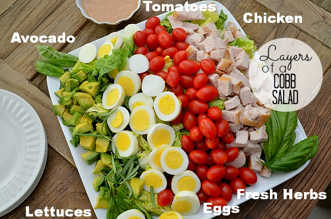 layers of a cobb salad