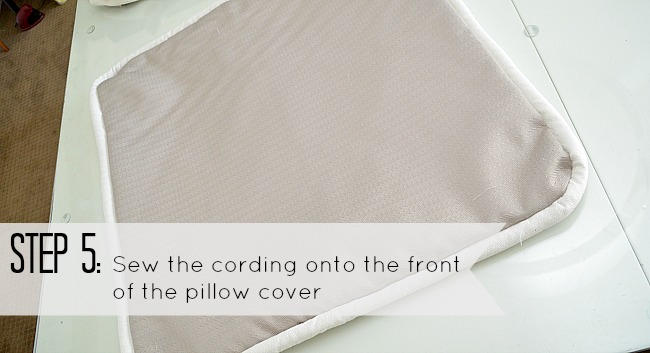 step 5 corded pillow cover