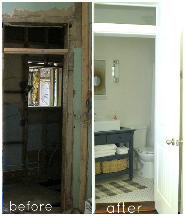 1905 cottage bathroom before and after