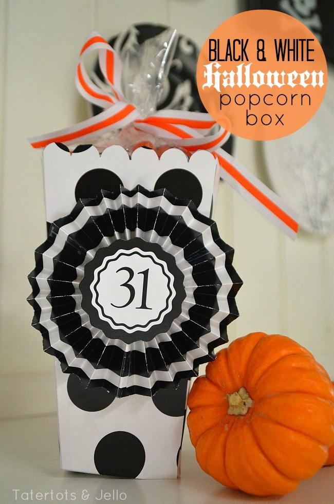 black and white popcorn box printable