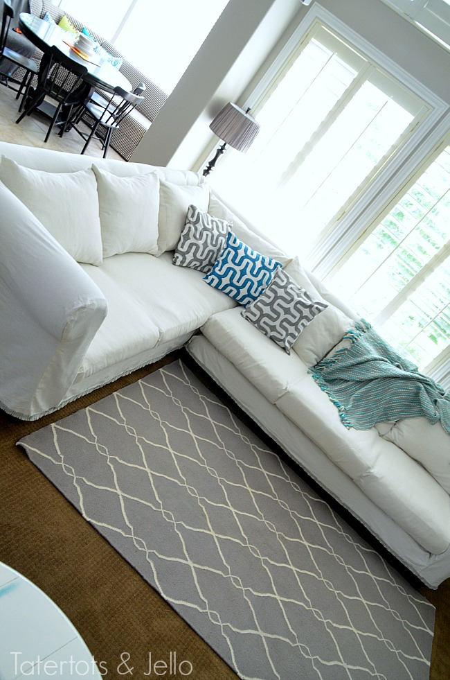 dropcloth sectional slipcover information