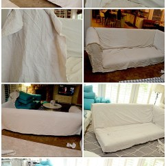 Slipcover For Sofa Cushions Separate Bed With Storage Sale Make A Dropcloth Sectional Slipcover! - Tatertots And ...
