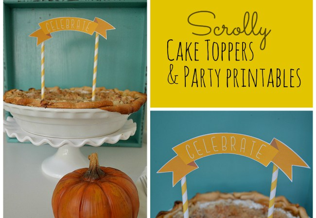 Scrolly Fall FREE Cake Toppers and Party Printables – Plus 11 more Fall Printables!!