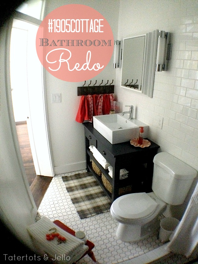 1905 cottage bathroom redo at tatertots and jello