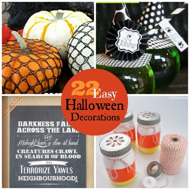 22 easy halloween decorations