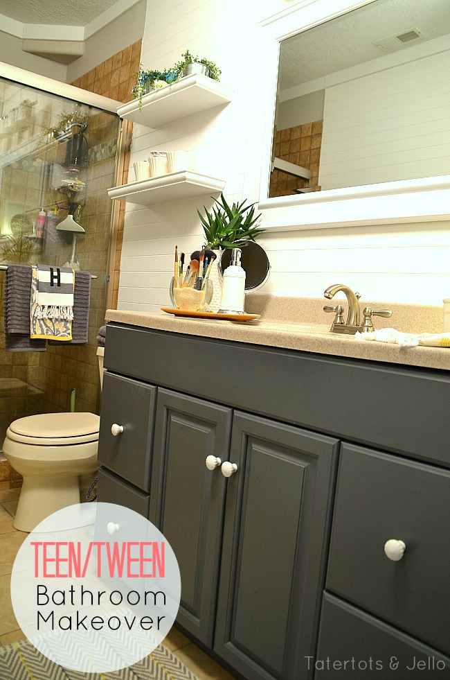 Marvelous painting the bathroom cabinet