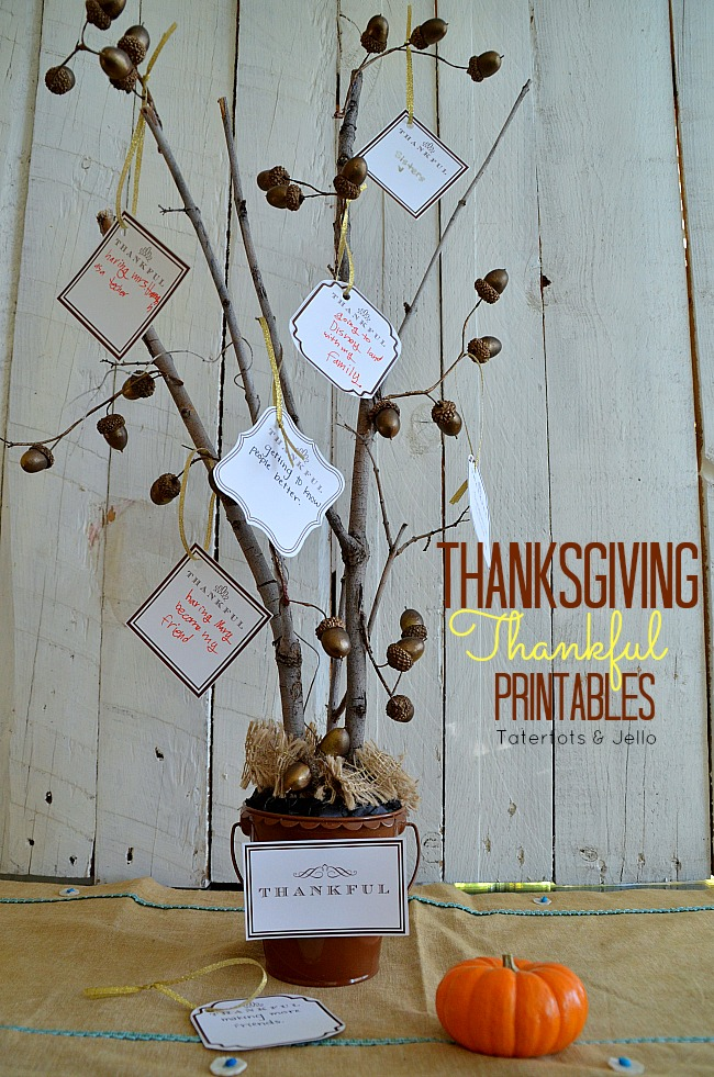 thanksgiving Thankful Printables