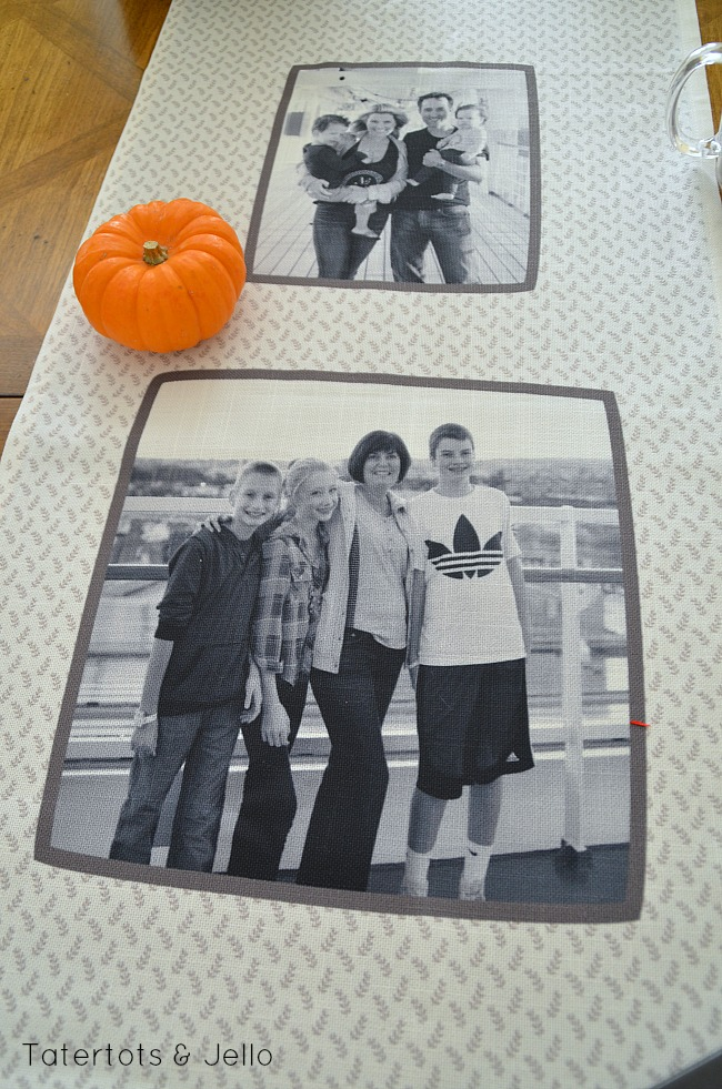 thanksgiving photo runner idea