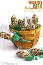 Happy Holidays: Thanksgiving Indian Corn Rice Krispy Treats