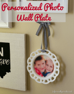 Happy Holidays: Personalized Photo Wall Plate
