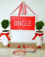 Faux Stained Glass Holiday Sign #LowesCreator