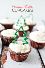 Happy Holidays: Christmas Truffle Cupcakes