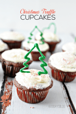 Happy Holidays: Christmas Truffle Cupcakes