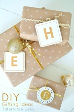 Make Coaster & Ornament Initial Gift Tags [And Win a $100 Shutterfly Gift Certificate]!