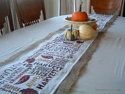 subway art burlap table runner for thanksgiving-12