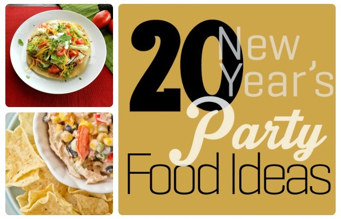 Great Ideas – 20 New Year's Party Foods!