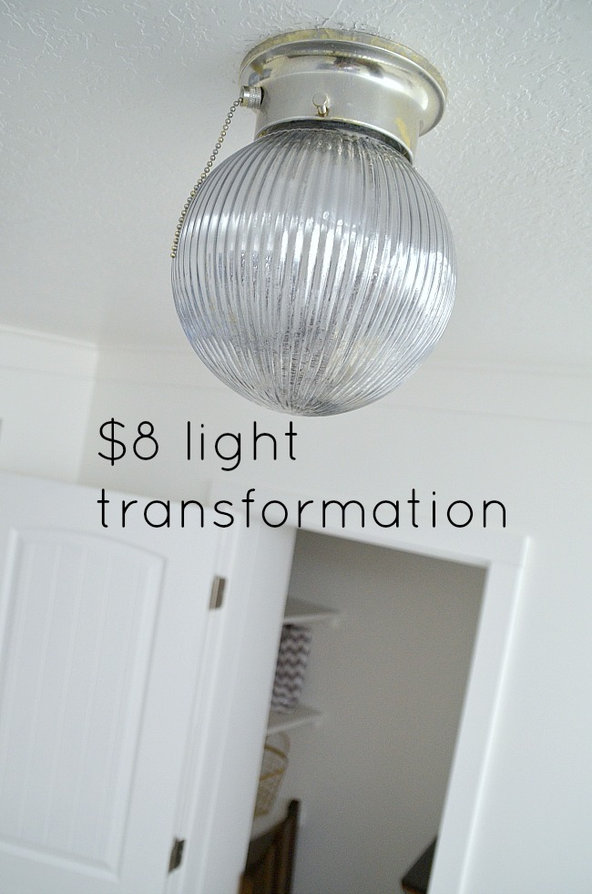 cheap light transformation with mercury glass paint