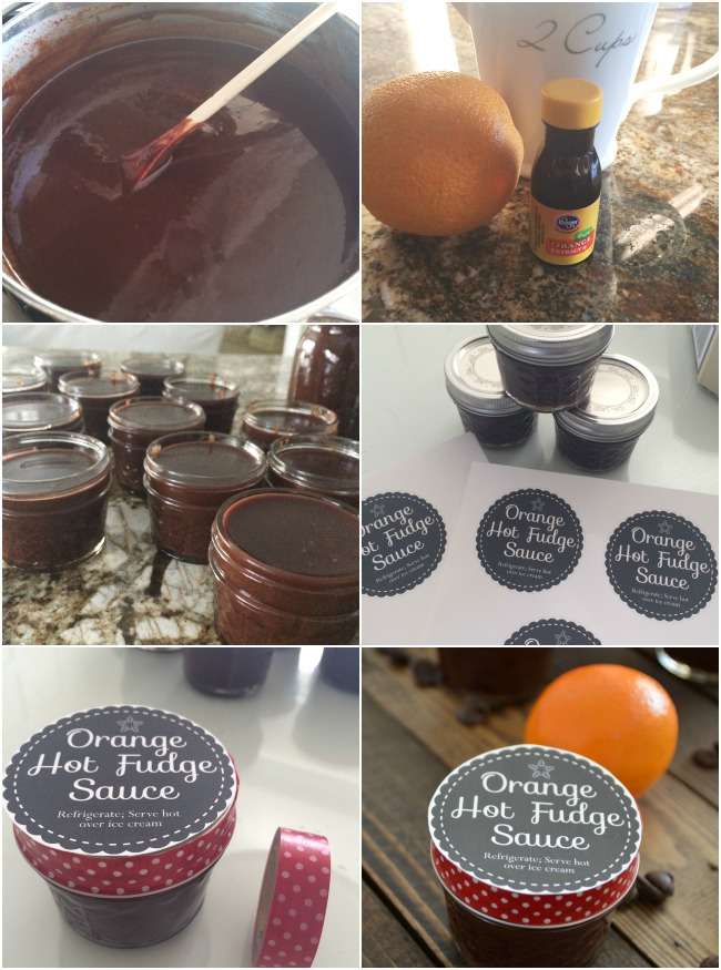 make orange hot fudge sauce neighbor gifts