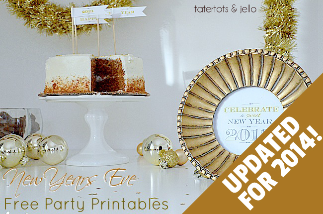 FREE New Year's Eve Party Printables – Updated for 2014!