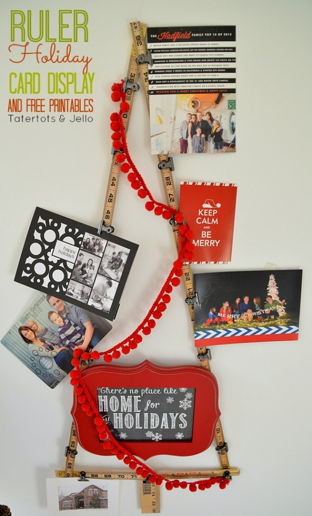 ruler holiday card display and printable at tatertots and jello