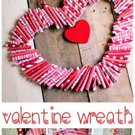 """Paper """"Roll-Up"""" Valentine Wreath Tutorial"""