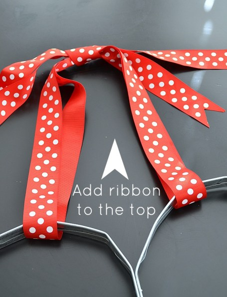 add ribbon to the top