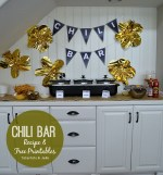 Chili Bar, Chili Recipe, FREE printables and $100 Dollar Tree Gift Card Giveaway!