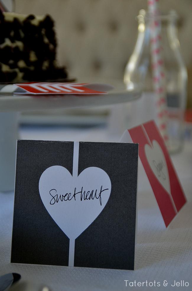 heart and arrow valentine printables