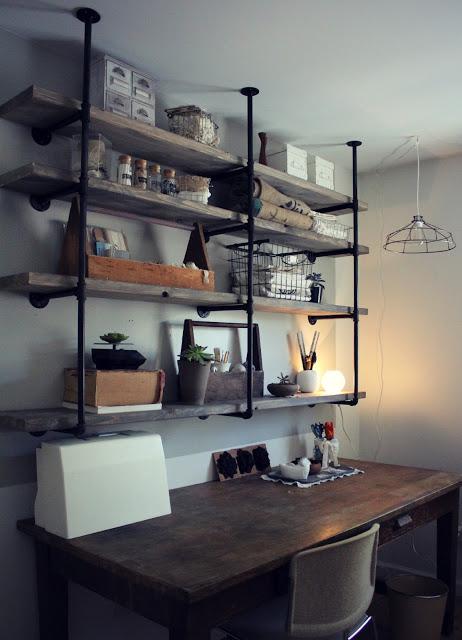 industrial rustic shelves