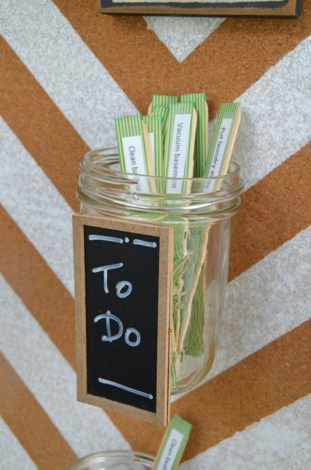 mason jar chore chart to do