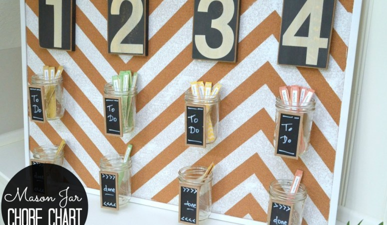 Get Organized in 2014: Make a Popsicle Stick & Mason Jar Chore Chart!
