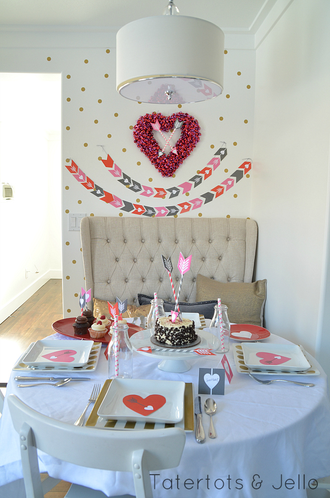 valentine party printables at tatertots and jello