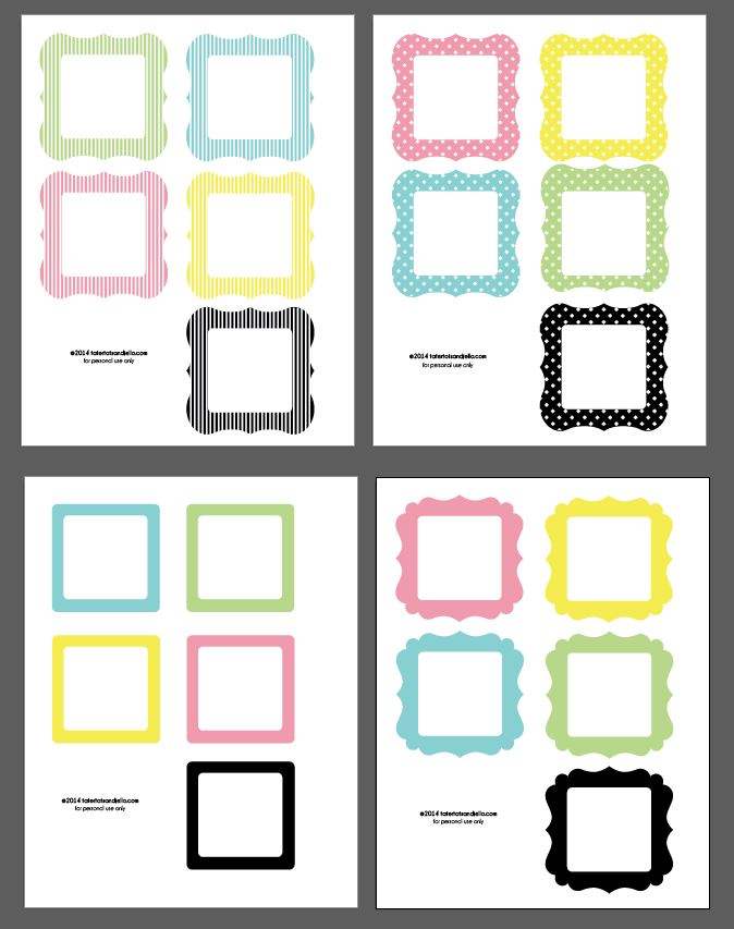 picture about Free Printable Frames known as No cost Spring Instagram Printable Image Frames