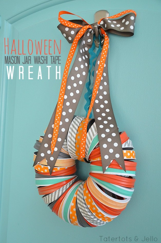 halloween-mason-jar-washi-tape-wreath-