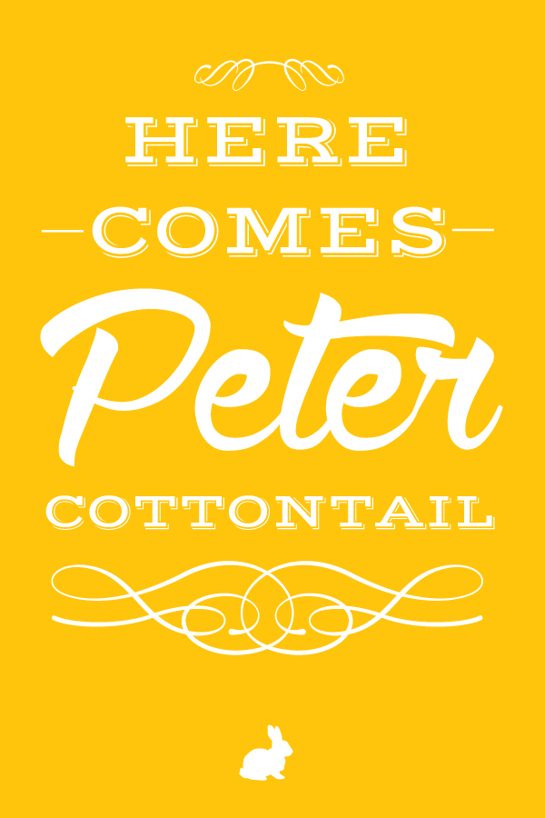 here.comes.peter.cottontail.20x30.yellow.small