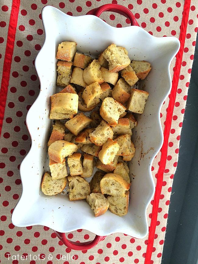 italian croutons at tatertots and jello