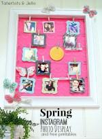 Spring Instagram Photo Display and Free Printable IG Frames!