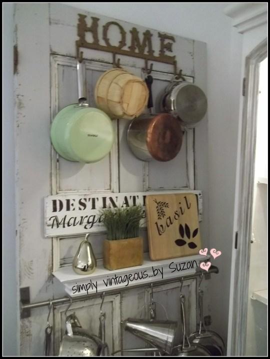 vintage door makeover
