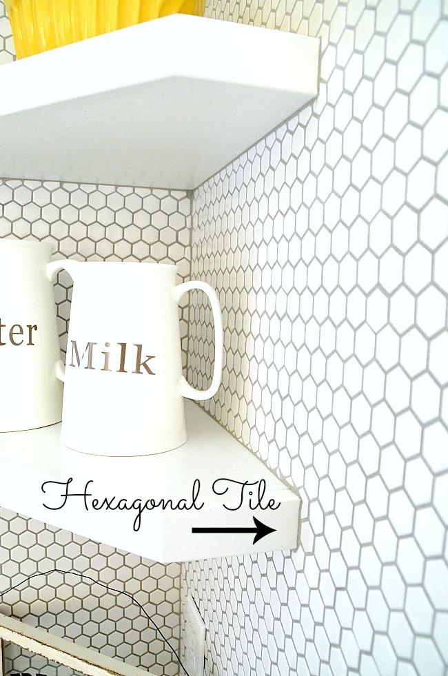 hexagonal tile for kitchen backsplash