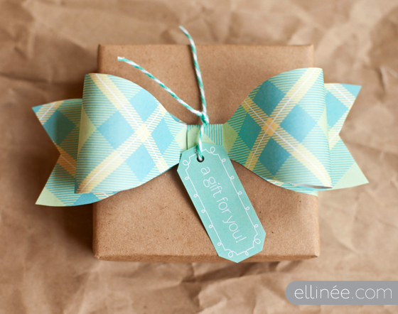 spring paper bow printable