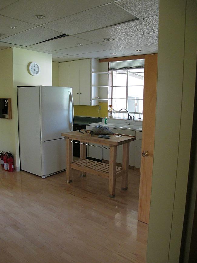 the fridge before
