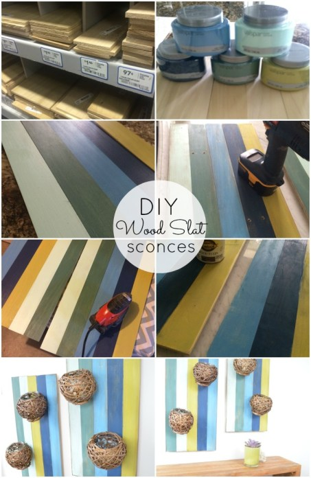 diy wood slat sconces tutorial at tatertots and jello