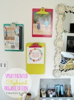 Office Organization – Spray Painted Thrifted Clipboards!