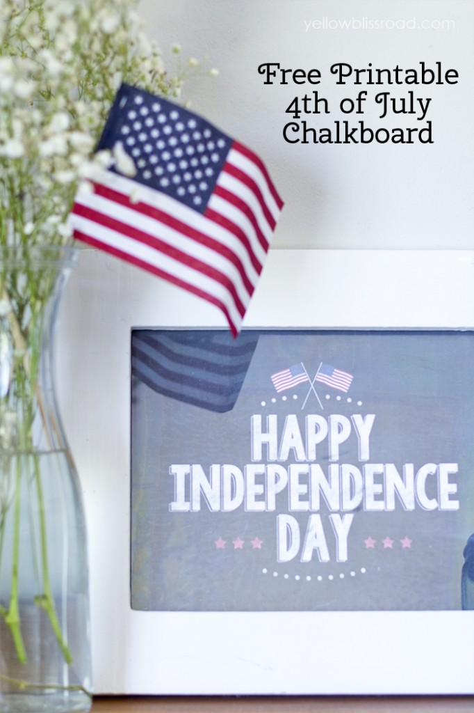 graphic about Free Chalkboard Printable named Joyful Liberty Working day Free of charge Chalkboard Printable