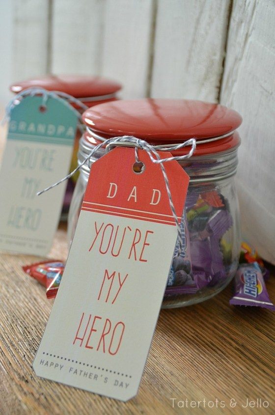 dad hero printables at tatertots and jello