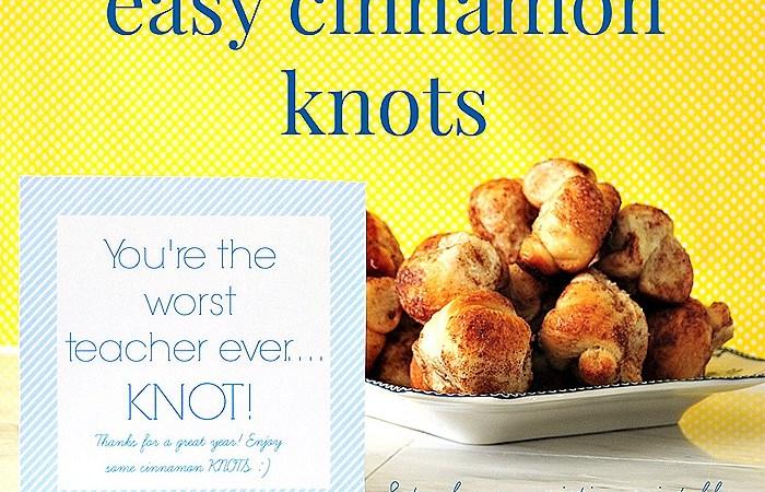 Easy Cinnamon Knots with Free Printable