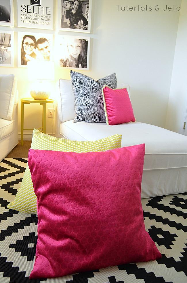 tween hangout room sneak peek pillows