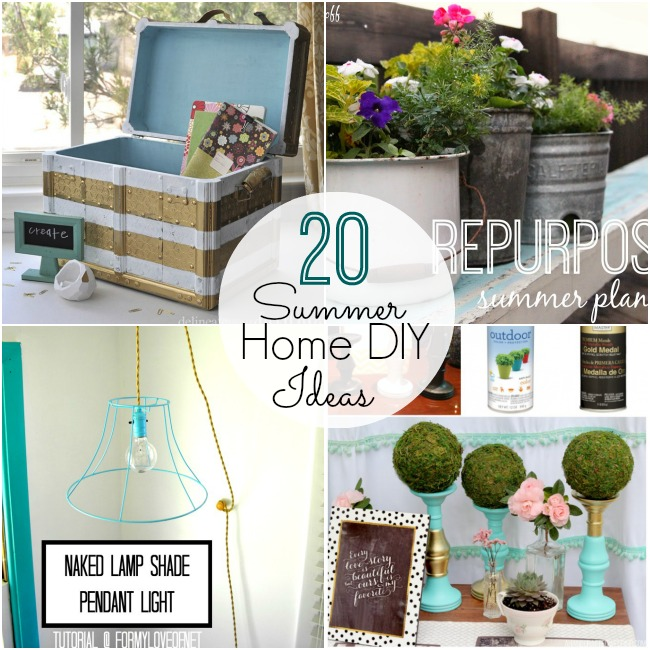 20 summer home diy ideas